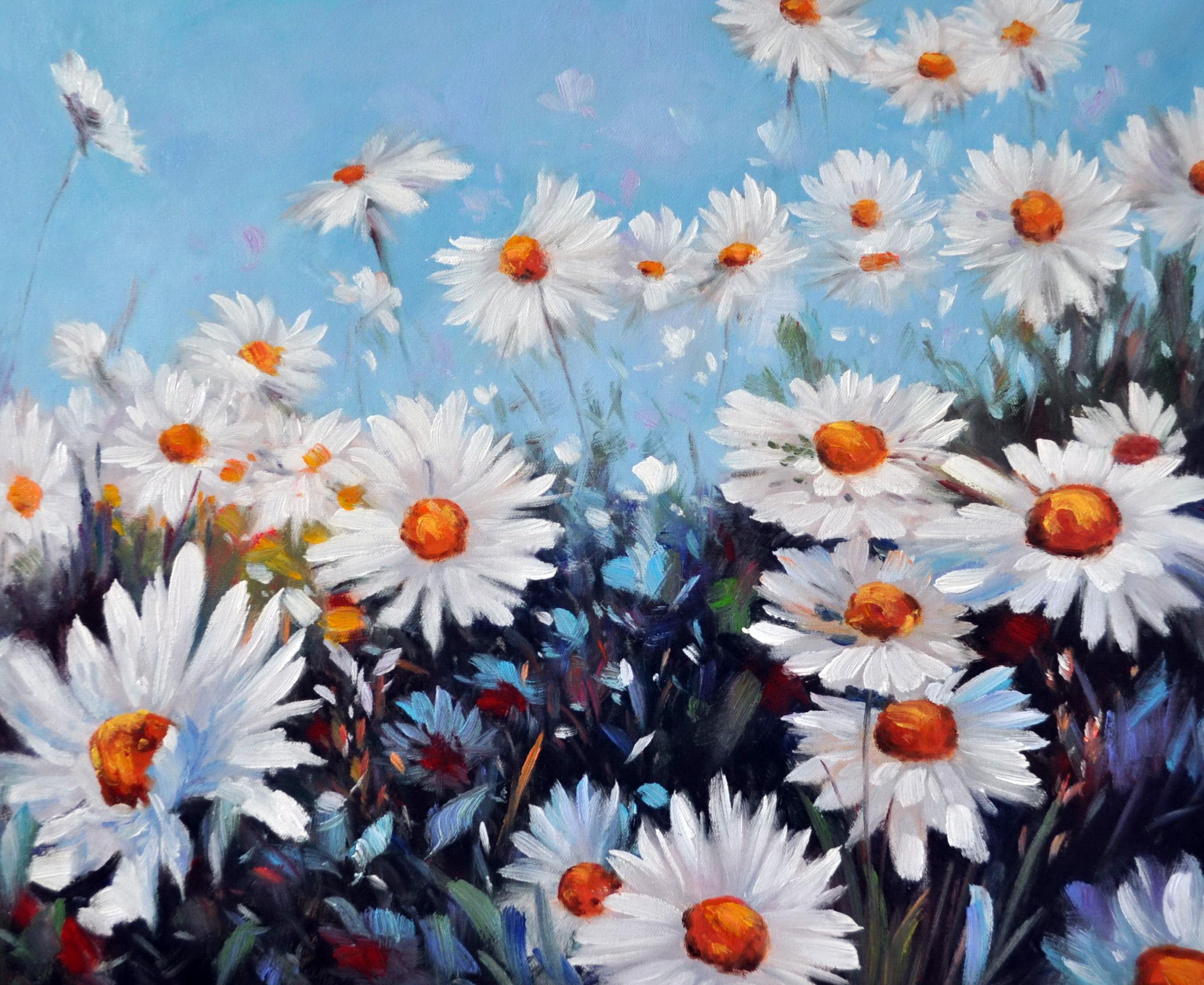 «Ромашки» картина 50х60 5ц321