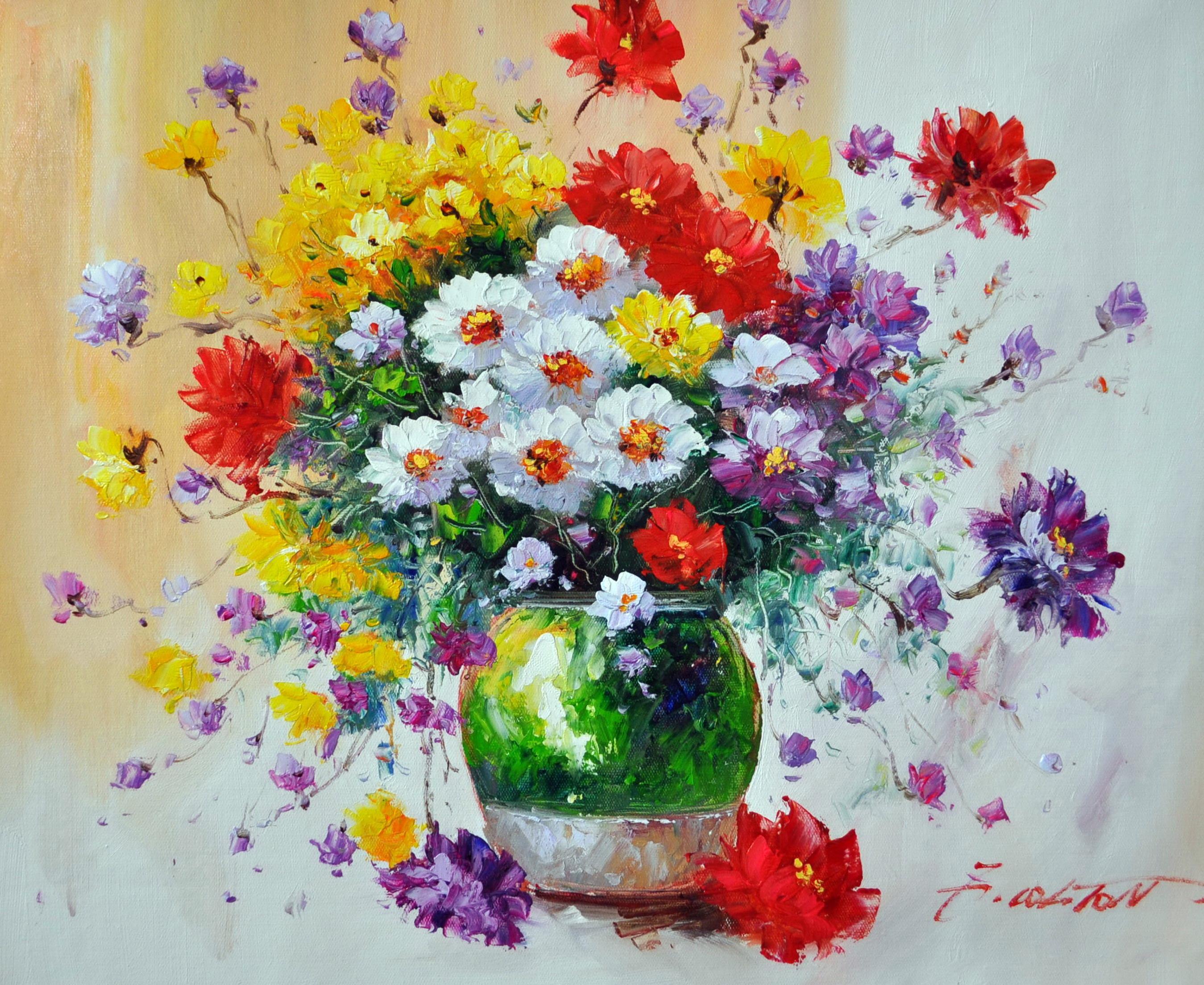 «Полевые цветы» картина 50х60 5ц322