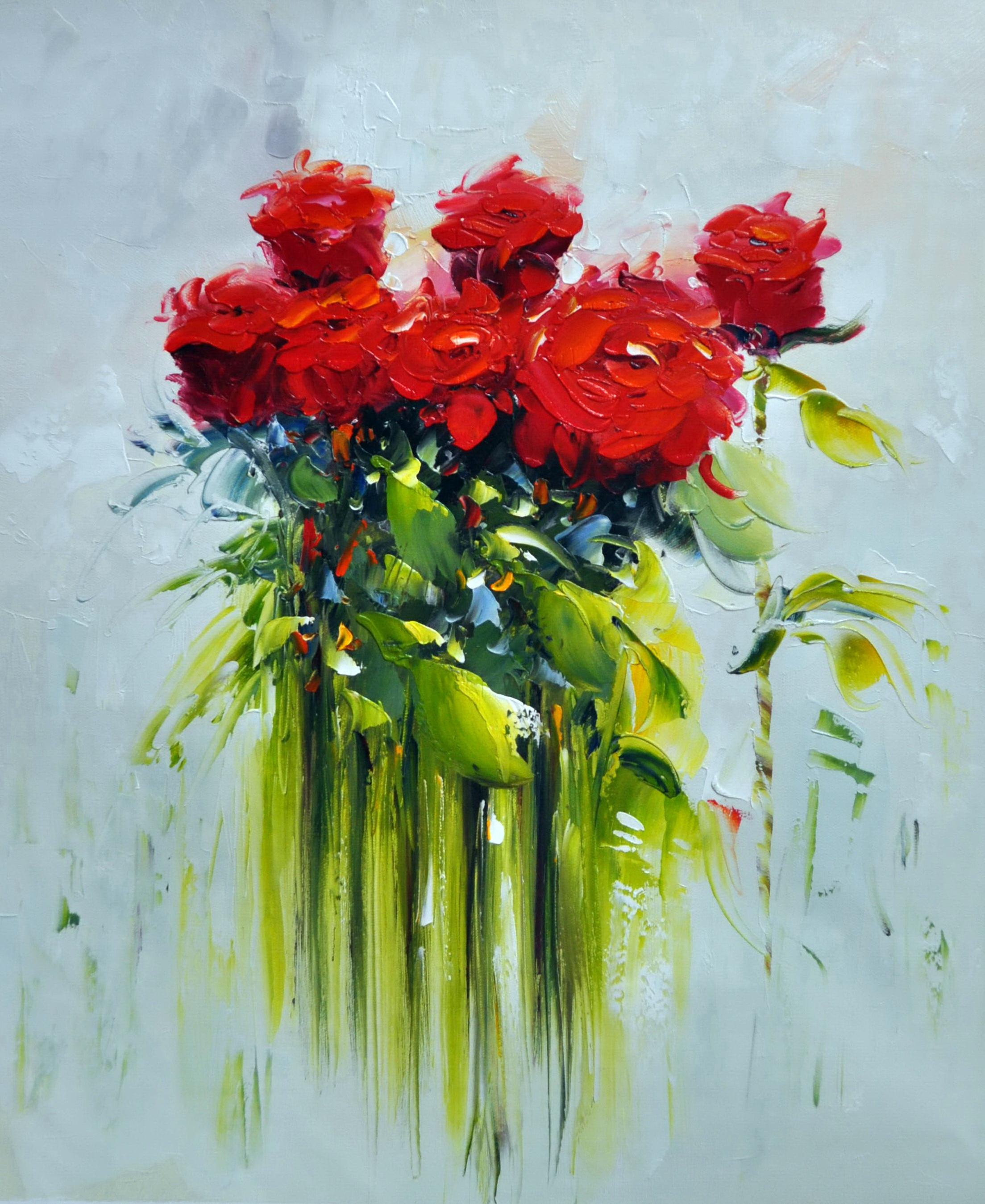 «Красные розы» картина 50х60 5ц323