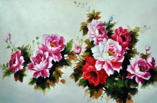 «Розовый куст» картина 60х90 9ц026