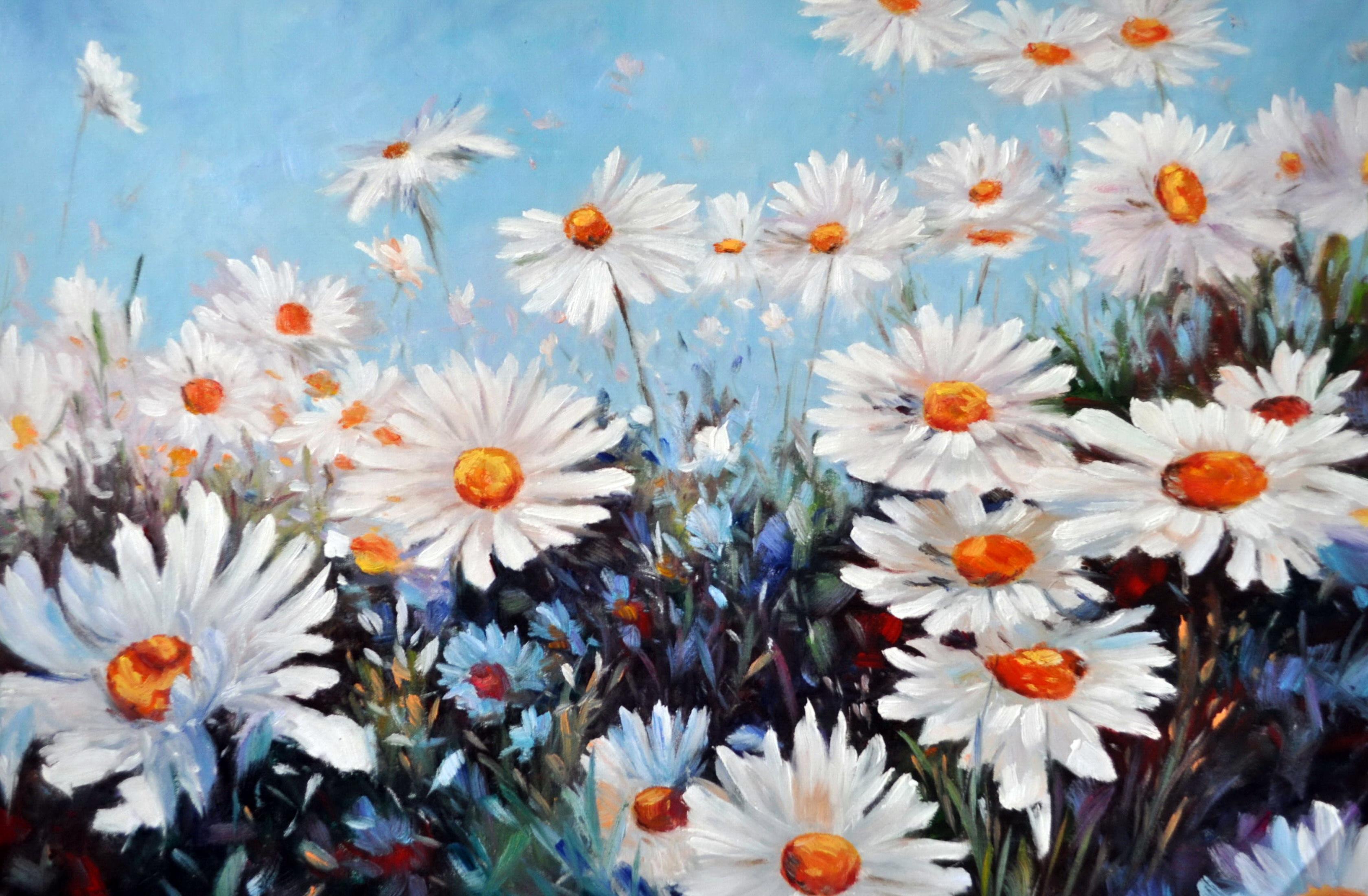 «Ромашковые поля» картина 60х90 9ц027