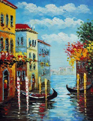 «Каналы Венеции» картина 30х40 3гр081