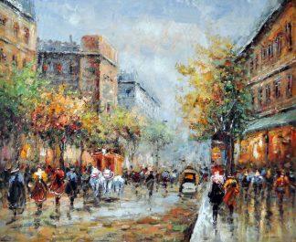 «Улица после дождя» картина 50х60 5гр297