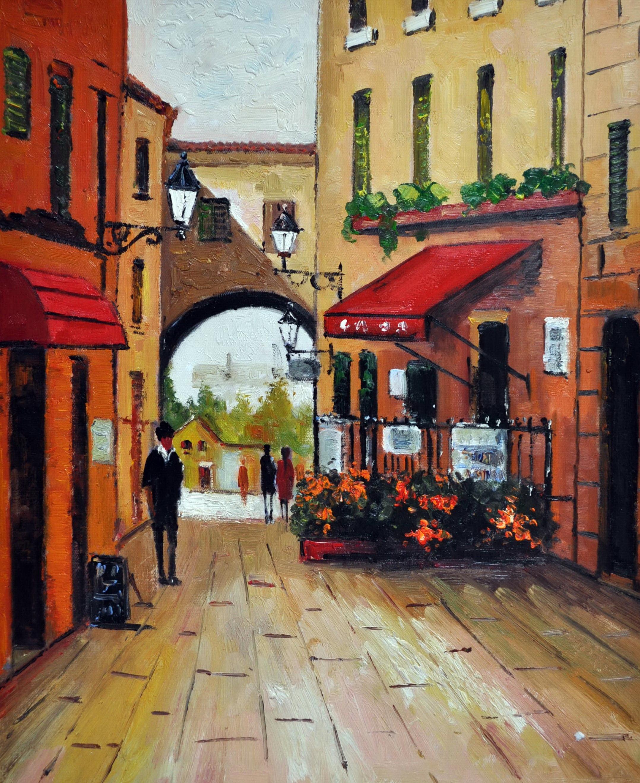«В переулке» картина 50х60 5гр301