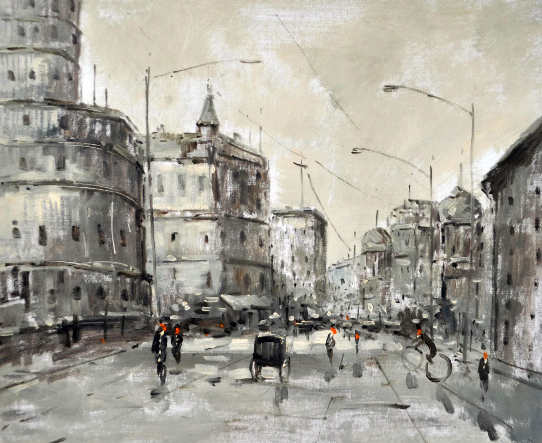 «Улицы Москвы» картина 50х60 5гр304