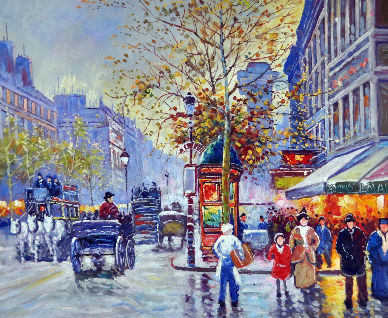 «Городской пейзаж» картина 50х60 5гр307