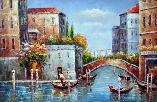 «Венецианские каналы» картина 60х90 9гр025