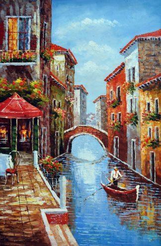 «Венецианские каналы» картина 60х90 9гр026