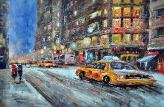 «Такси в Нью-Йорке» картина 60х90 9гр027