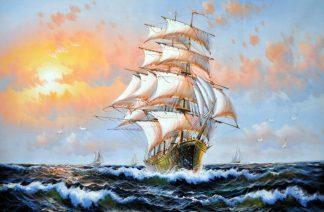 «На всех парусах» картина 60х90 9к010
