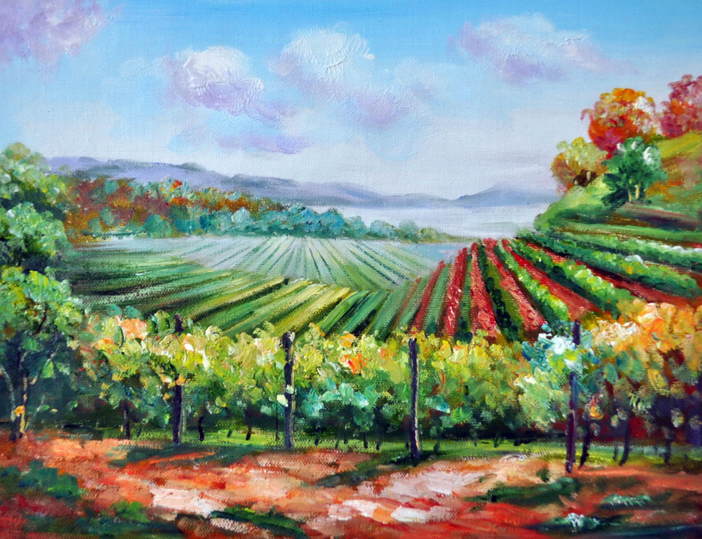 «Виноградники» картина 30х40 3п050