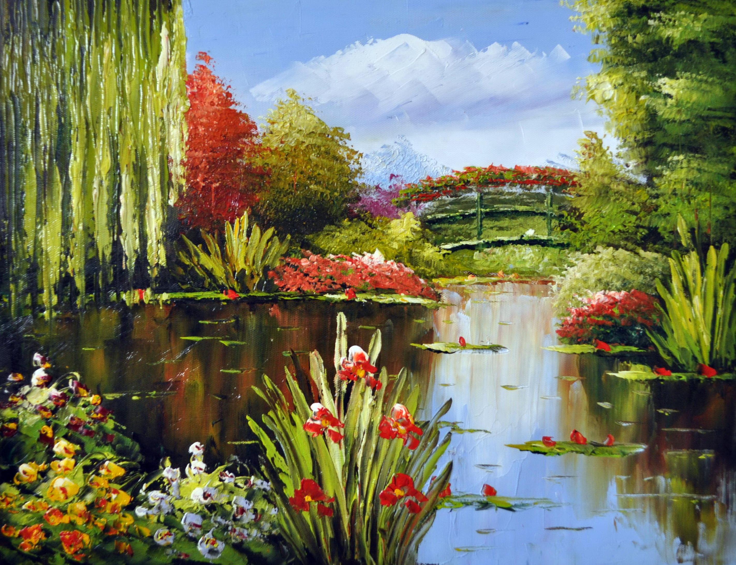 «В летнем парке» картина 30х40 3п051