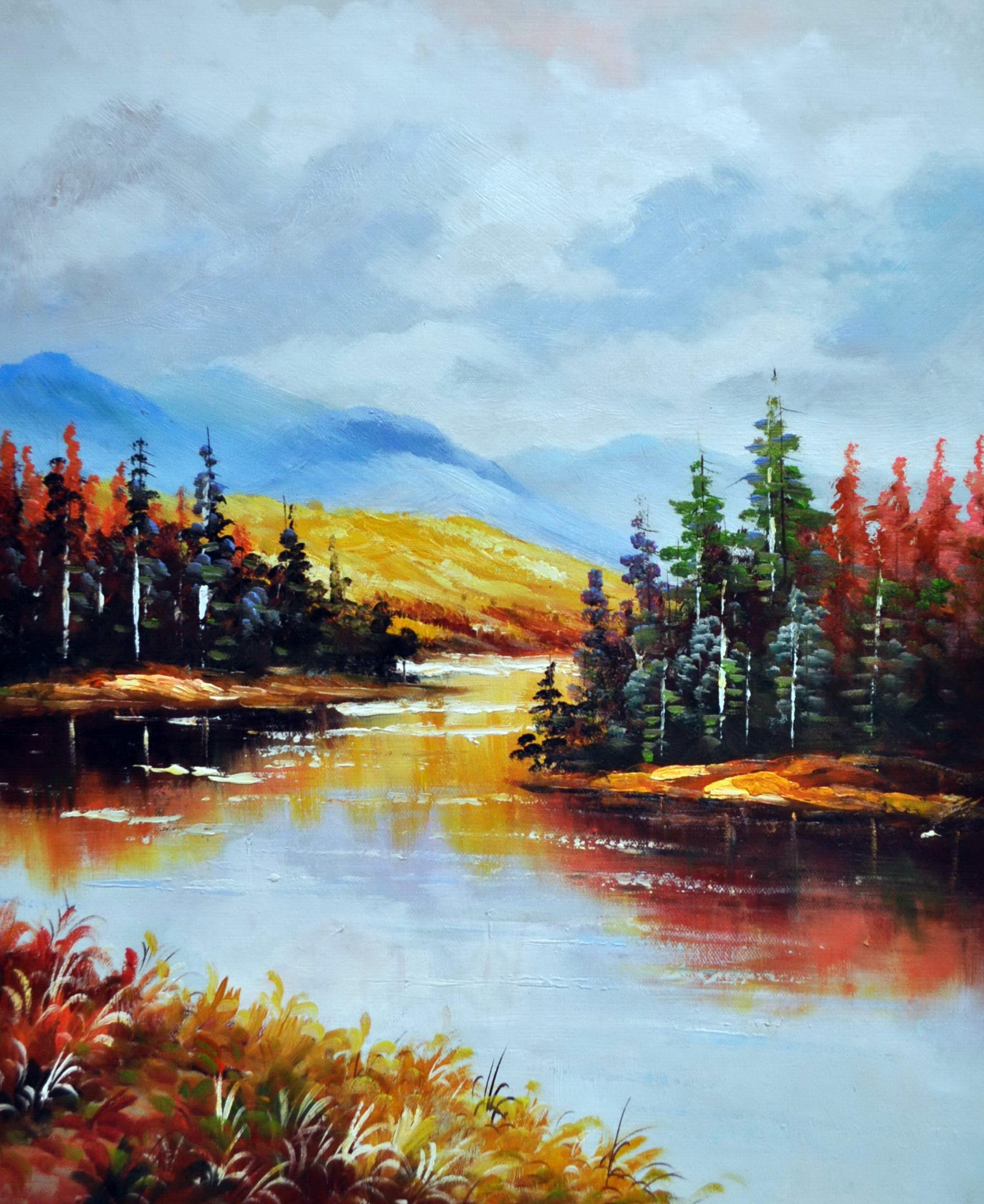 «Осенний пейзаж» картина 50х60 5п172