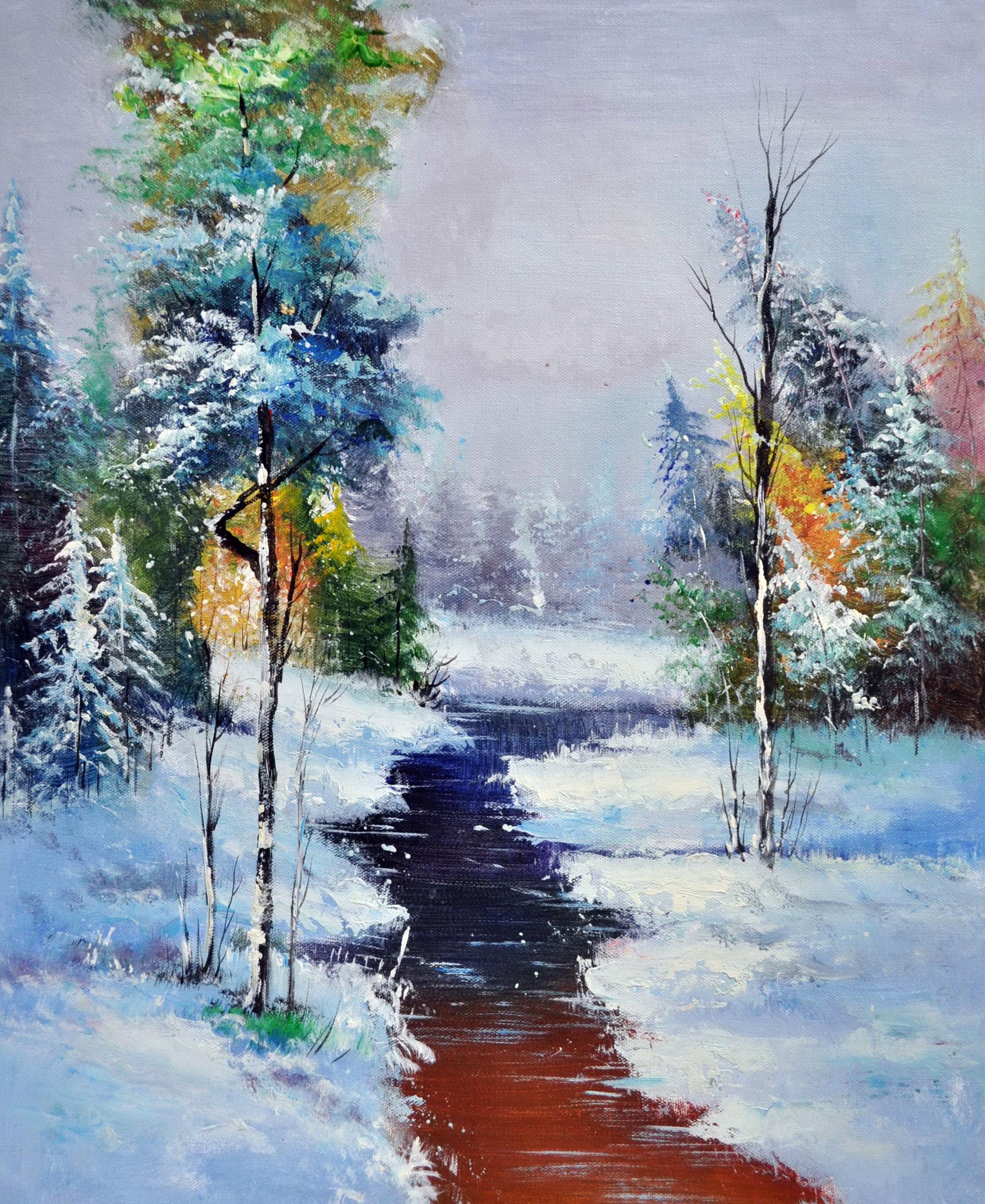 «Март в лесу» картина 50х60 5п173