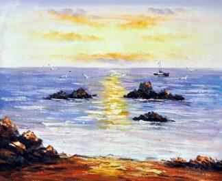 «Морской пейзаж» картина 50х60 5п174