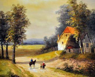 «Пейзаж» картина 45х50 5п176