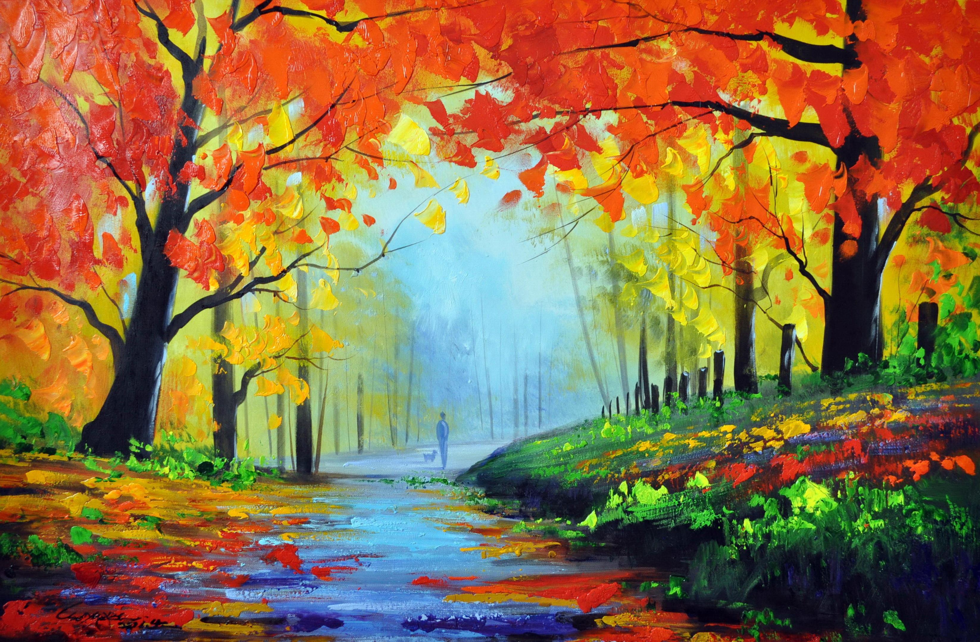 «Осенний парк» картина 60х90 9п015