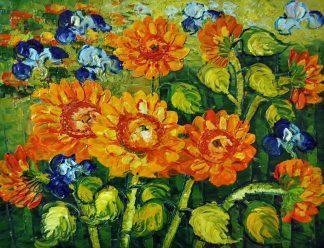 «Подсолнухи Ван Гога» картина 30х40 3р073