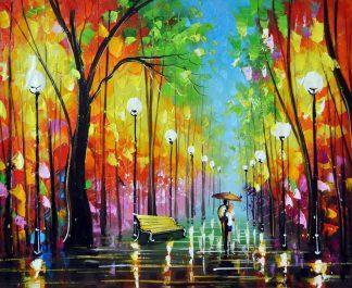 «Пара в парке» картина 50х60 5р170