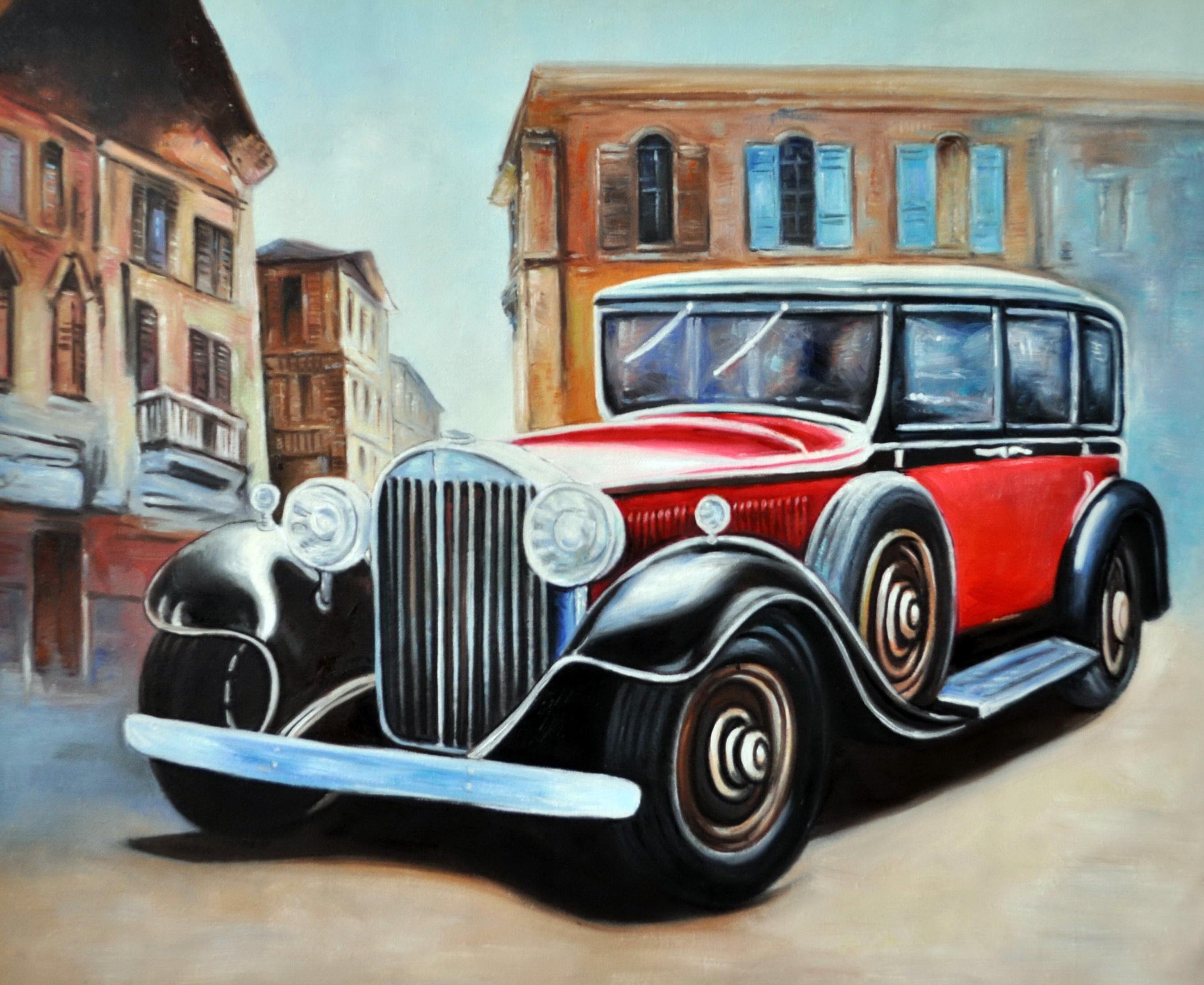 «Ретро автомобиль» картина 50х60 5р173
