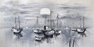 «Корабли» картина 60х120 б058
