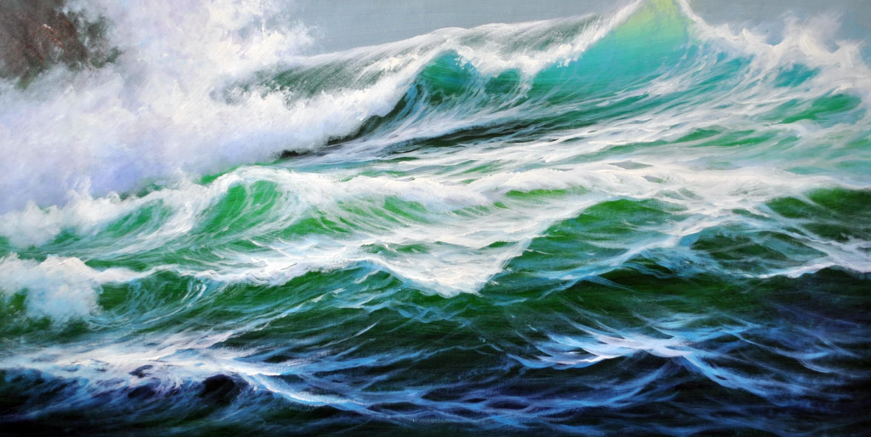 «На гребне волны» картина 60х120 б060