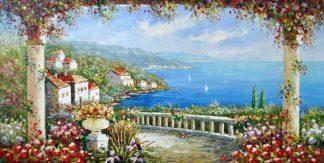 «Южный берег» картина 60х120 б061