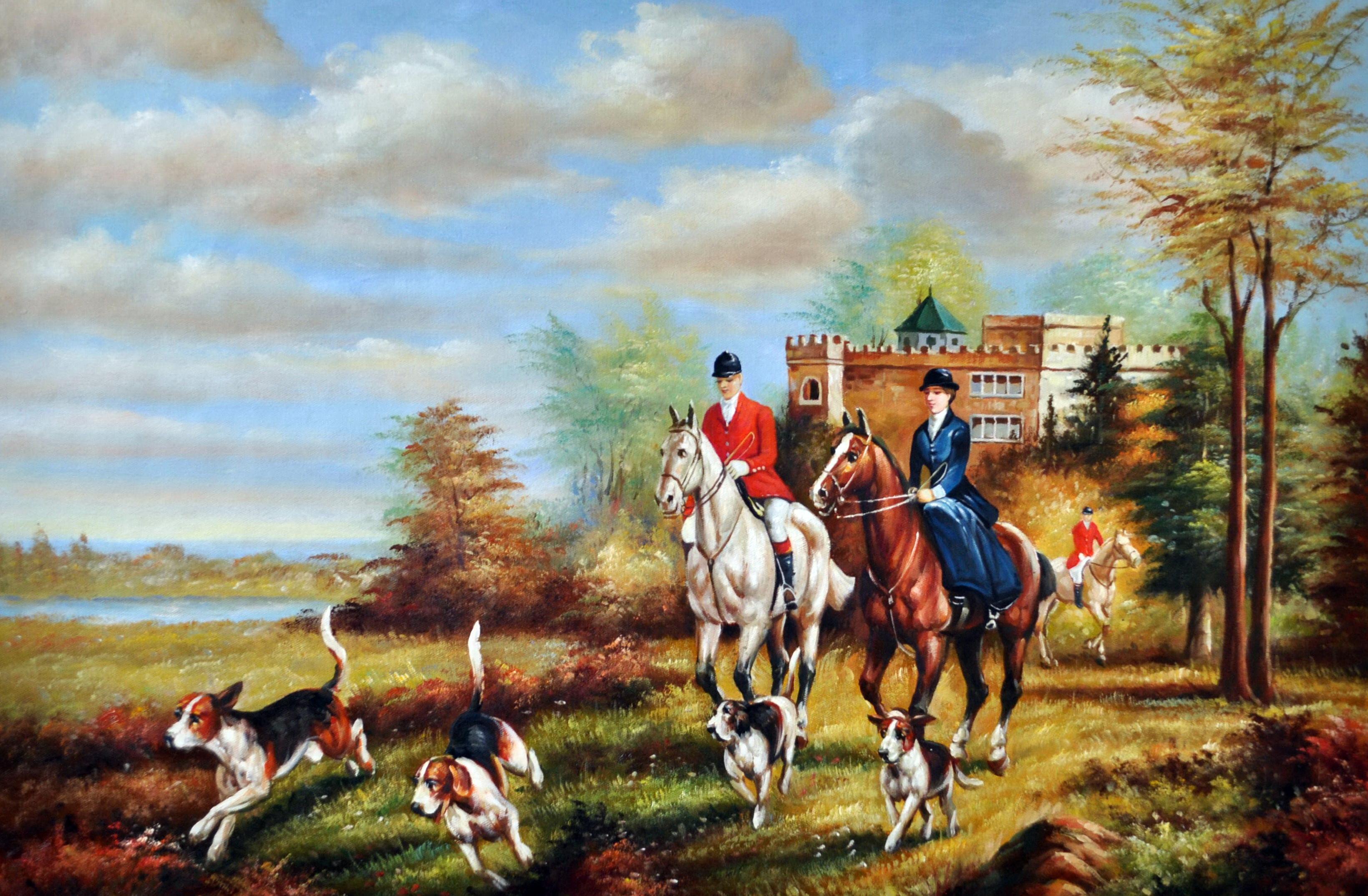 «Английская охота» картина 60х90 9р017