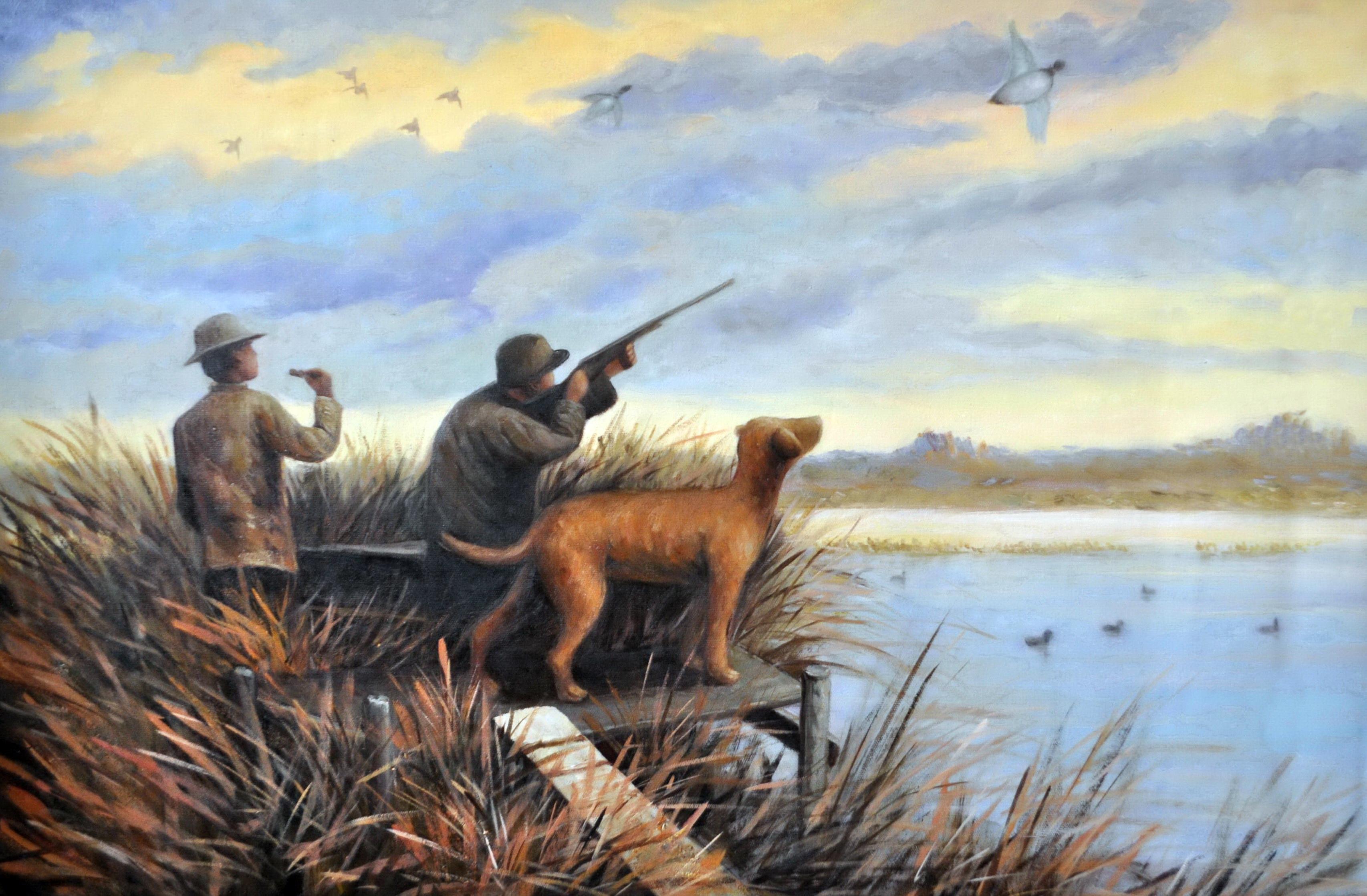 «Охота на уток» картина 60х90 9р019