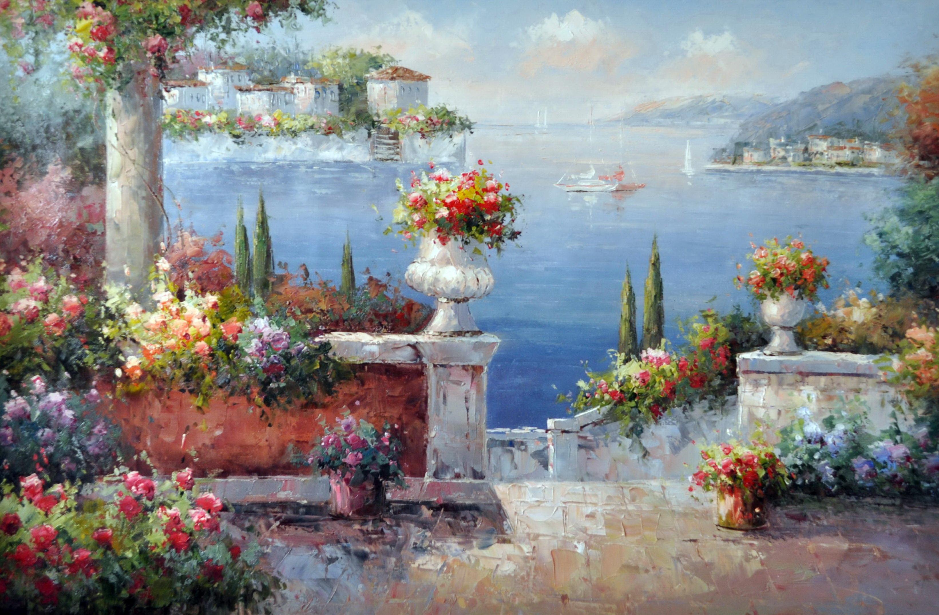 «Лазурные берега» картина 60х90 9с016