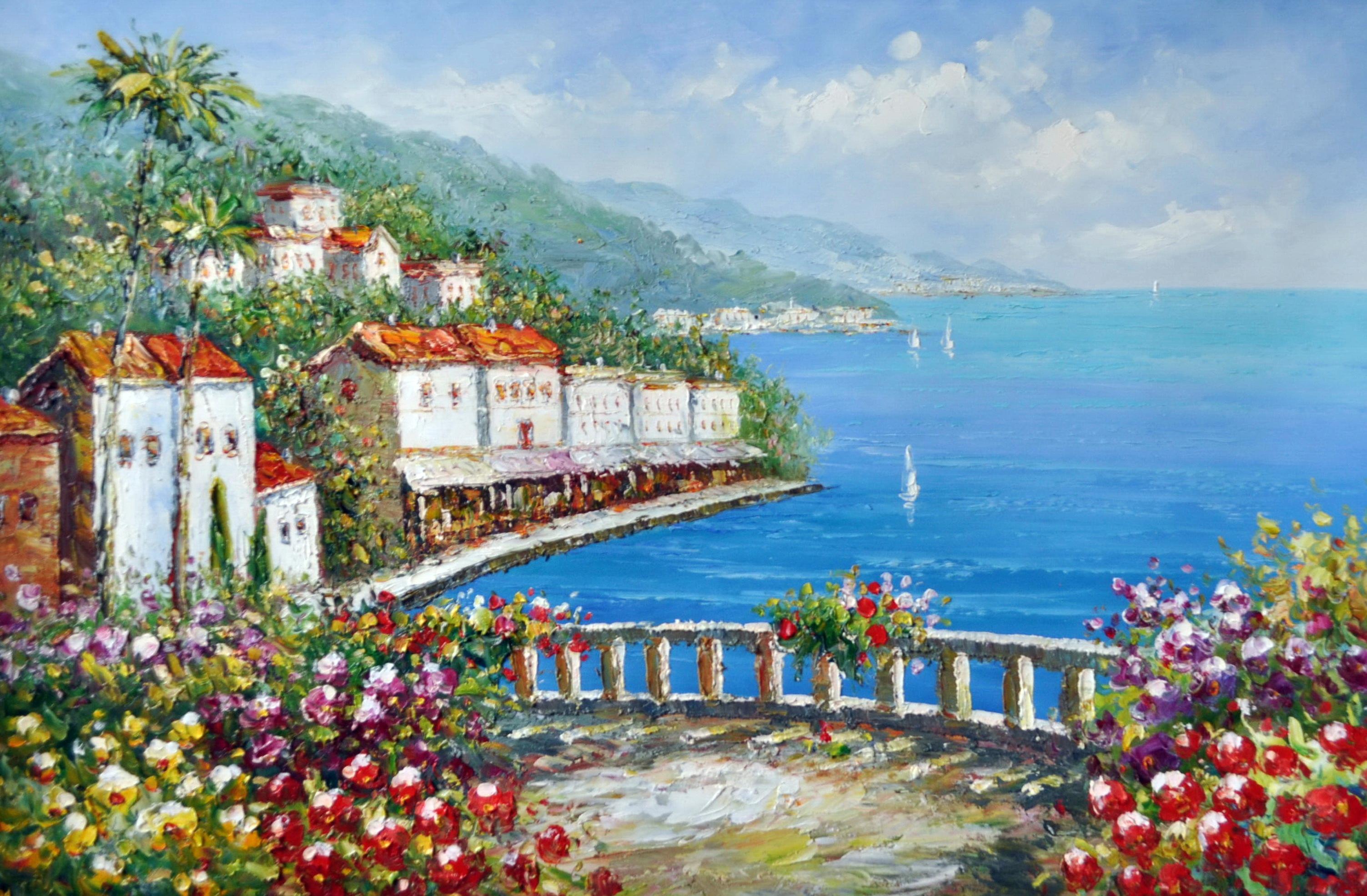 «Средиземноморское воспоминание» картина 60х90 9с018