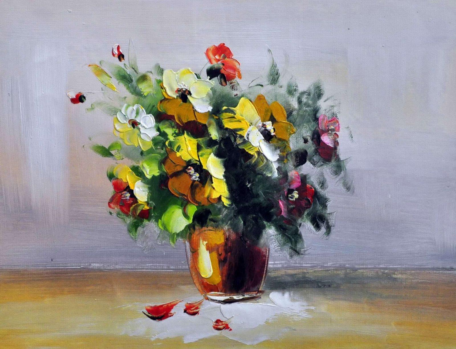«Букет в вазе» картина 30х40 3ц010
