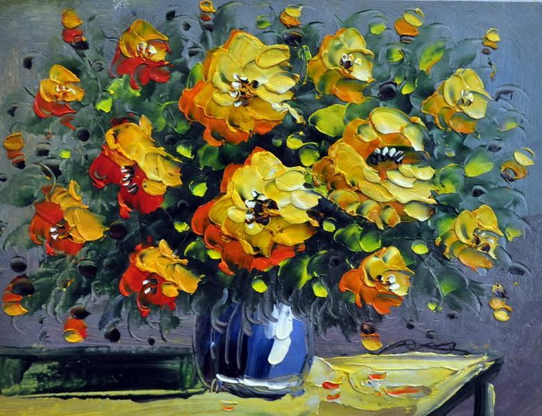 «Букет желтых цветов» картина 30х40 3ц024
