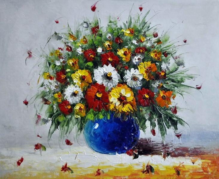 «Полевые цветы» картина 50х60 5ц333