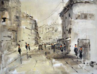 «Улицы Москвы» картина 30х40 3гр012