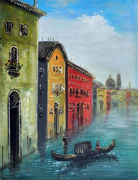 «Каналы Венеции» картина 30х40 3гр034