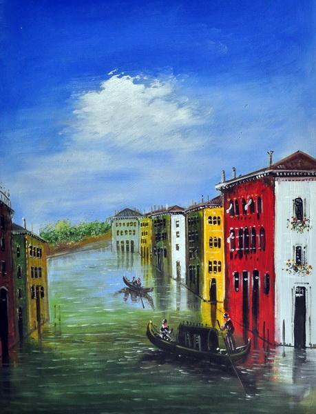 «Каналы Венеции» картина 30х40 3гр038