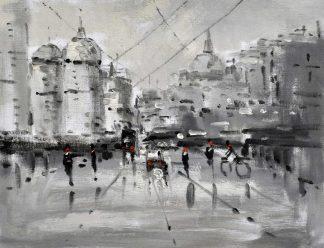 «Улицы Москвы» картина 30х40 3гр049