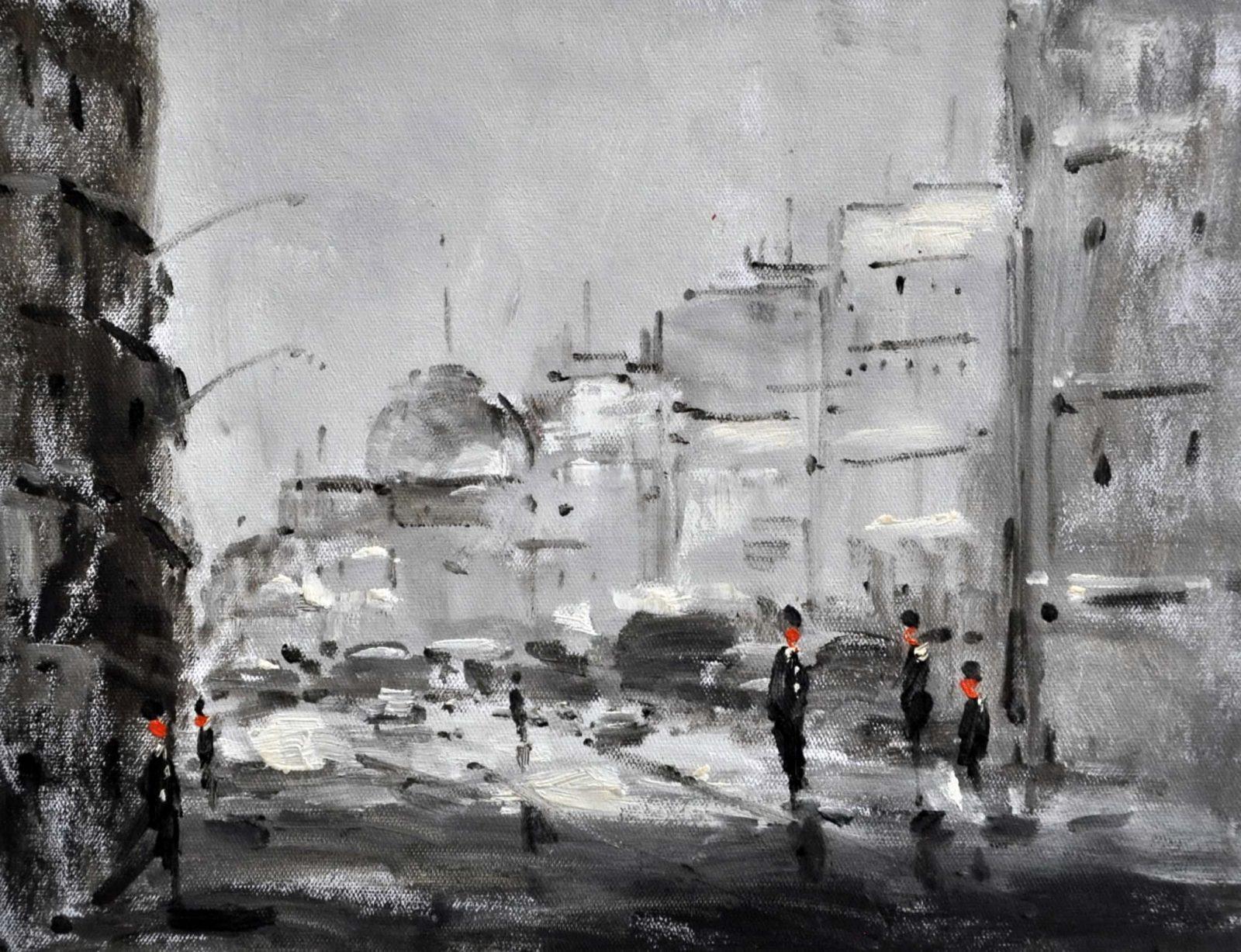 «Улицы Москвы» картина 30х40 3гр051