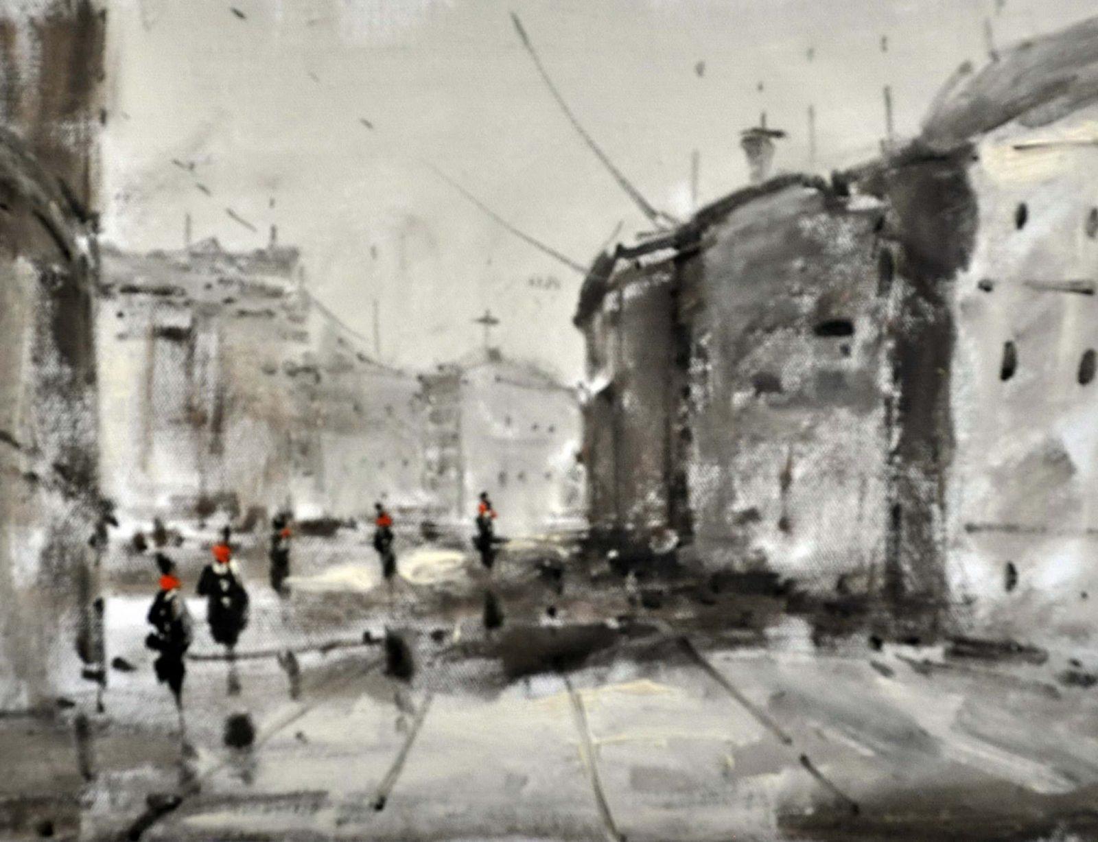 «Улицы Москвы» картина 30х40 3гр054