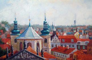 «Панорама Праги» картина 60х90 9гр030