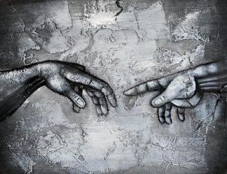 «Сотворение Адама» картина 30х40 3м003