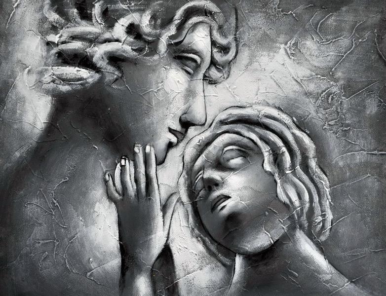 «Мать и дитя» картина 30х40 3м004