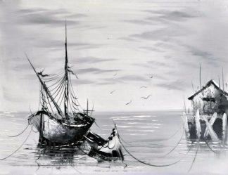 «Лодка» картина 30х40 3м007