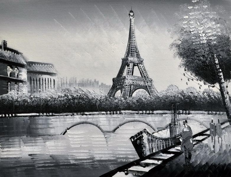 «Набережная Сены» картина 30х40 3м016