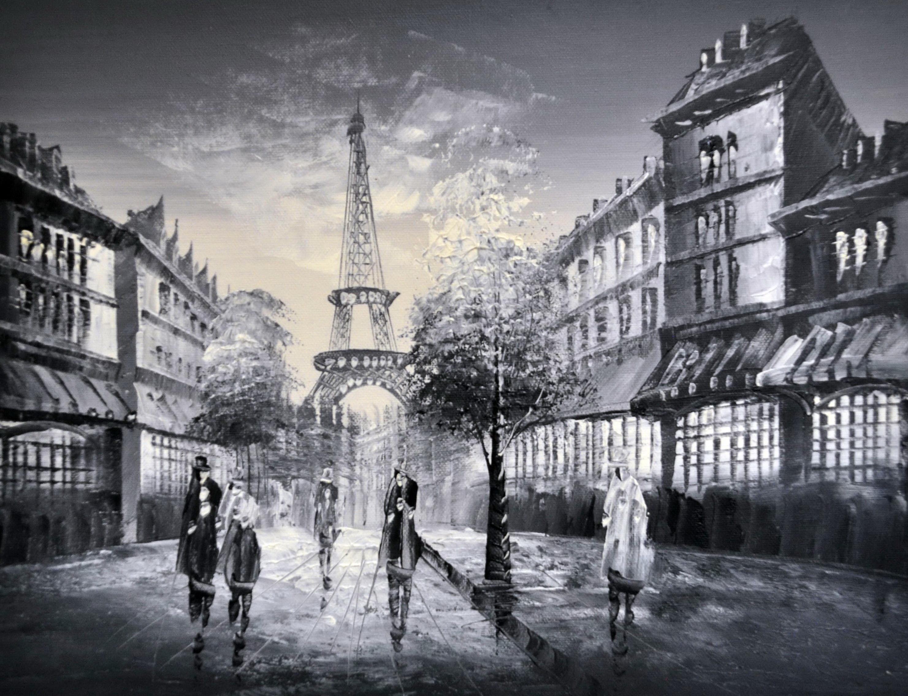 «Прогулка по Парижу» картина 30х40 3м020