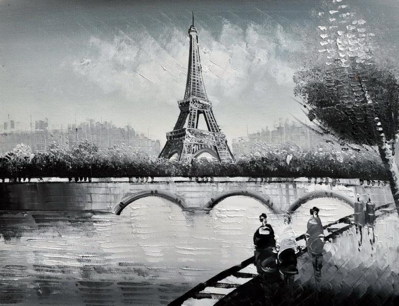 «Набережная Сены» картина 30х40 3м035
