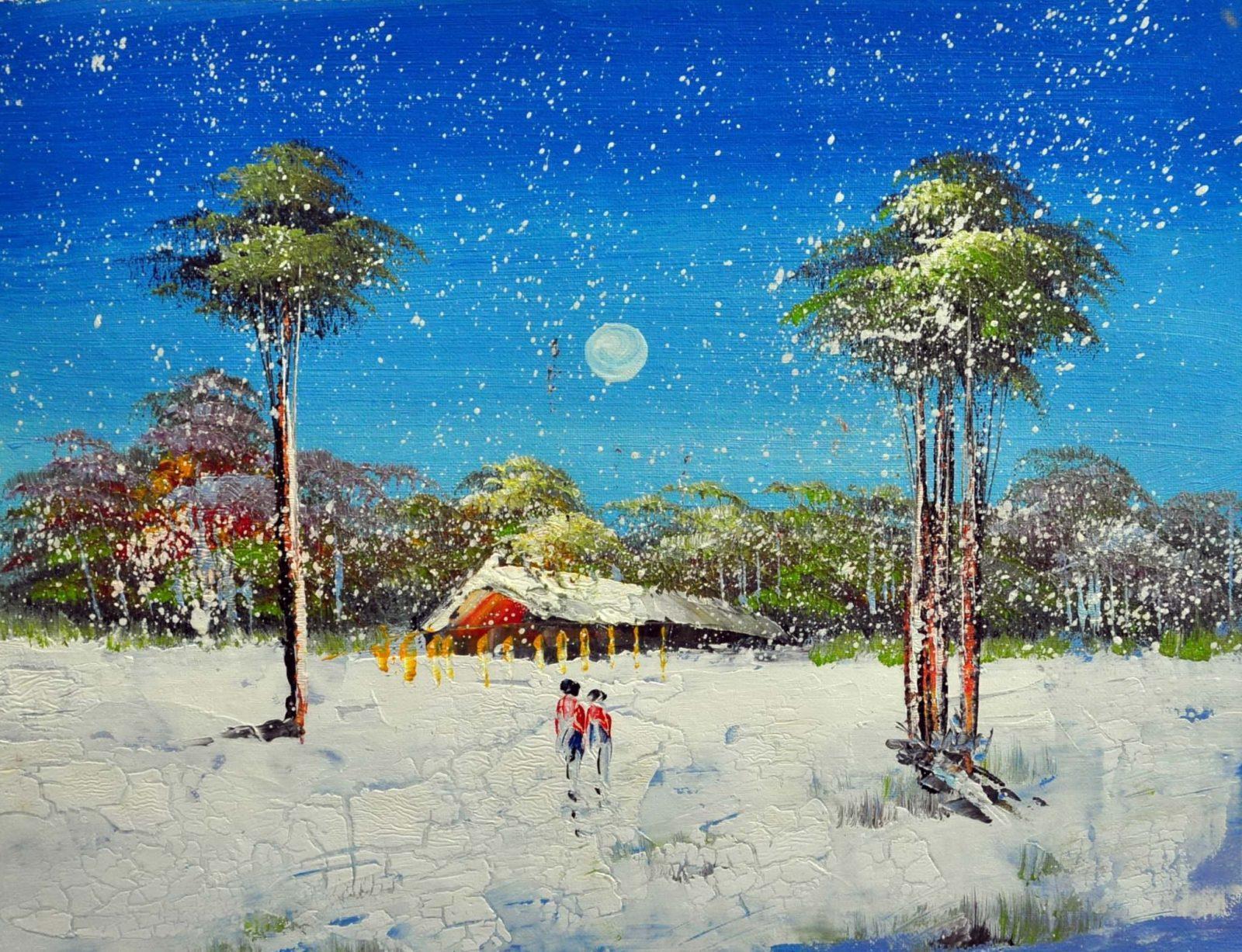«Зима» картина 30х40 3п023
