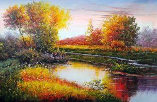 «Осенний пейзаж» картина 60х90 9п020