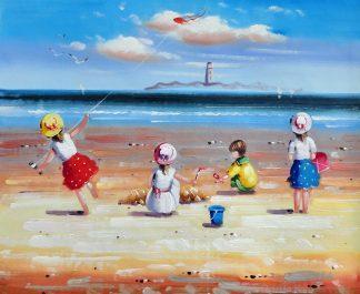 «Дети на пляже» картина 50х60 5р193